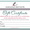 Everyday Elements Gift Certificates