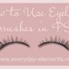 How to Use Eyelash Brushes in Photoshop {Elements}