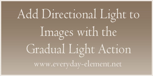 Add directional light to images with Gradual Light action