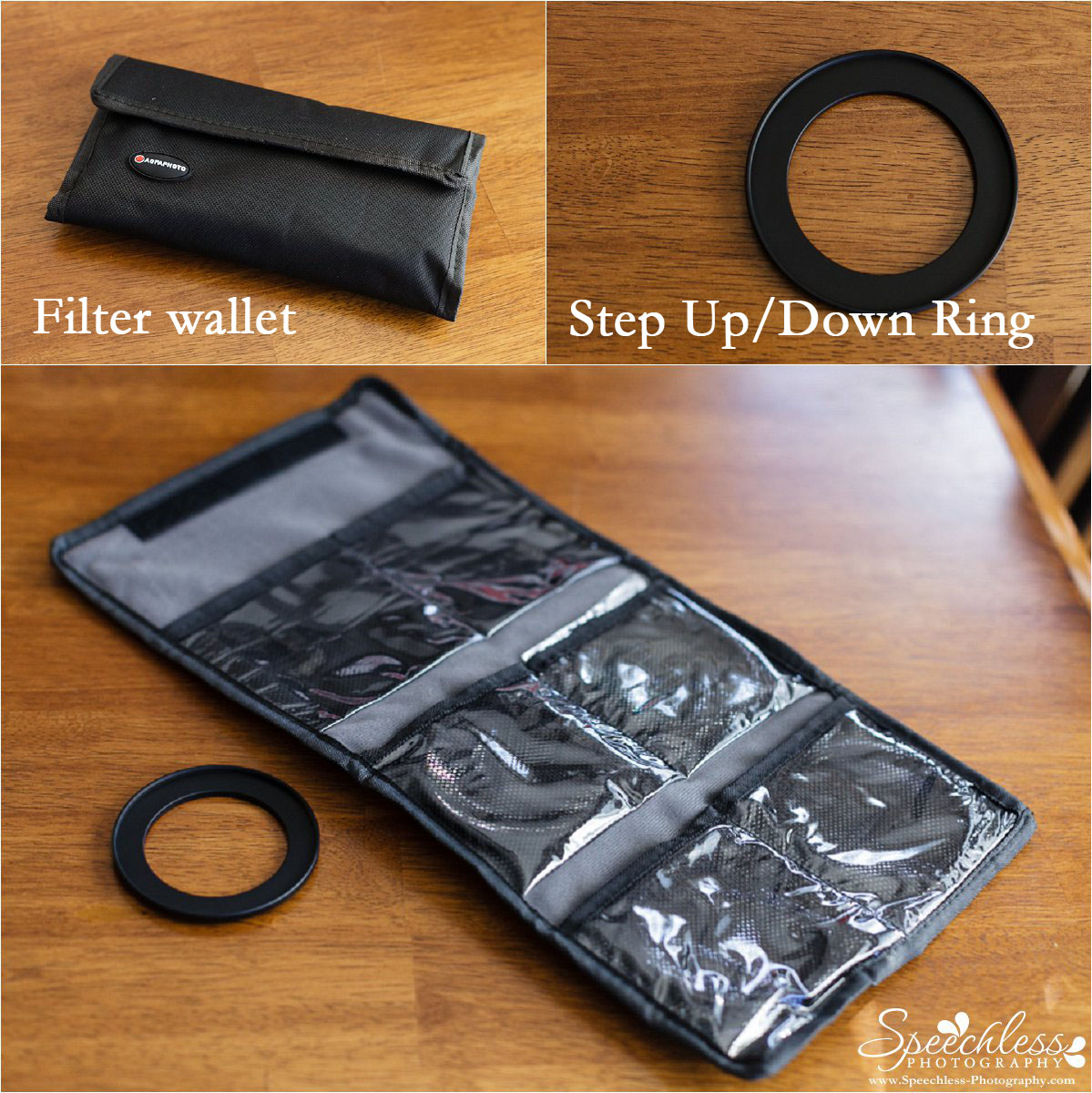 Macro Filter Set with Wallet and Step Up/Down Ring