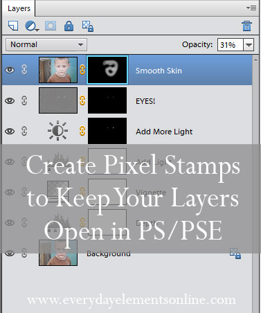how to make a pixel stamp in photoshop elements