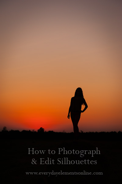 How to photograph and edit silhouettes