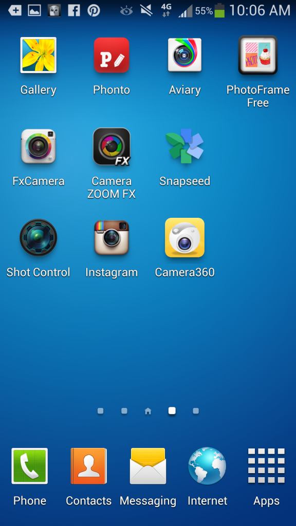 Photography and editing apps on Galaxy S4