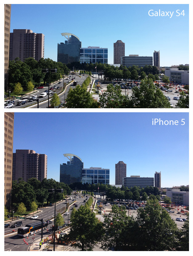 comparison of Samsung Galaxy S4 and iPhone 5