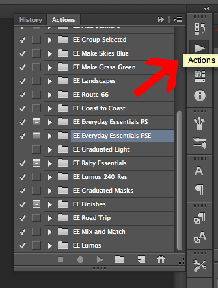 Installing actions in Photoshop EverydayElementsOnline.com