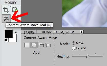 content aware move tool