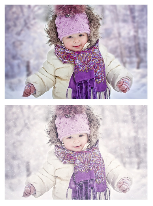Add snow and winter effects in Photoshop