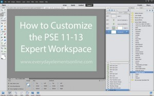 How to Customize the Workspace in PSE 11-13